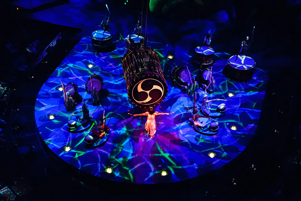 A scene from Mystère at Treasure Island in Las Vegas, NV